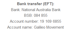 Bank account details